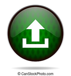 upload green internet icon