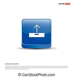 Upload icon. - 3d Blue Button