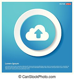 Upload Icon Abstract Blue Web Sticker Button