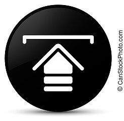 Upload icon black round button