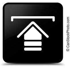 Upload icon black square button