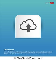 Upload Icon - Blue Sticker button