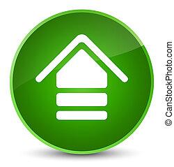 Upload icon elegant green round button