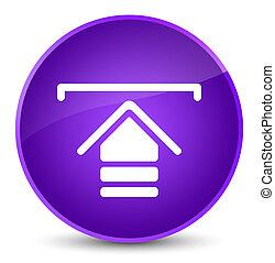 Upload icon elegant purple round button