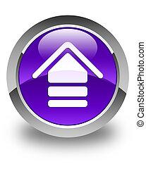 Upload icon glossy purple round button