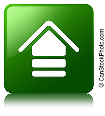 Upload icon green square button