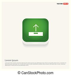 Upload icon. Green Web Button