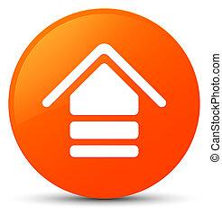 Upload icon orange round button