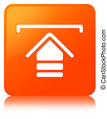 Upload icon orange square button