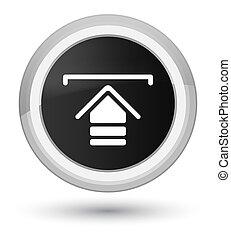 Upload icon prime black round button