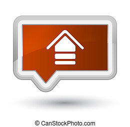 Upload icon prime brown banner button