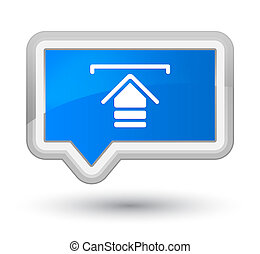 Upload icon prime cyan blue banner button