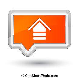 Upload icon prime orange banner button