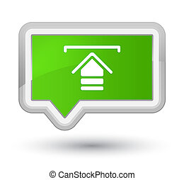 Upload icon prime soft green banner button