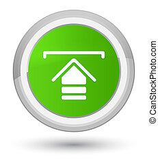 Upload icon prime soft green round button