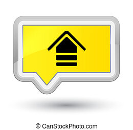 Upload icon prime yellow banner button