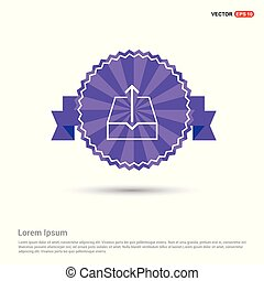 Upload icon - Purple Ribbon banner