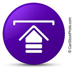 Upload icon purple round button