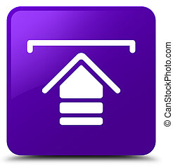 Upload icon purple square button