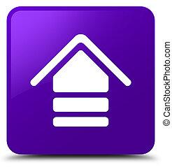 Upload icon purple square button