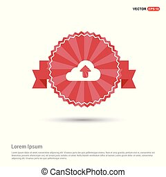 Upload Icon - Red Ribbon banner