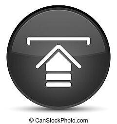 Upload icon special black round button
