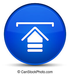 Upload icon special blue round button