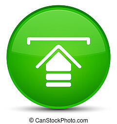 Upload icon special green round button