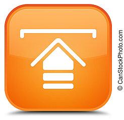 Upload icon special orange square button