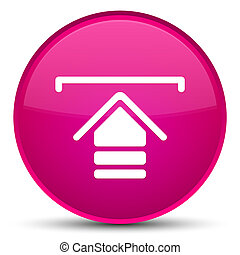Upload icon special pink round button