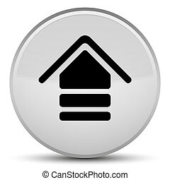 Upload icon special white round button