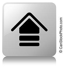 Upload icon white square button
