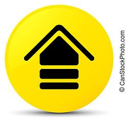 Upload icon yellow round button