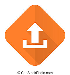 upload orange flat icon