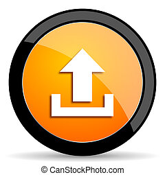 upload orange icon