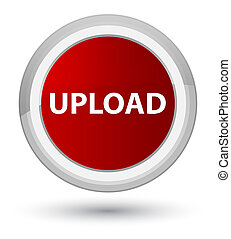 Upload prime red round button