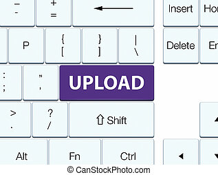 Upload purple keyboard button