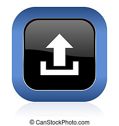upload square glossy icon