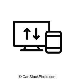 upload  thin line icon