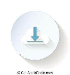 Upload to cloud storage flat icon