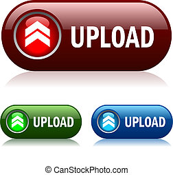 Upload vector button