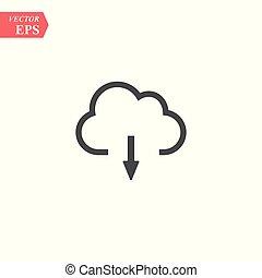 Upload vector icon, cloud storage symbol. Modern, simple flat vector illustration for web site or mobile app