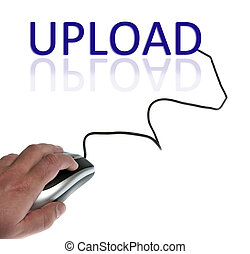 Upload word connected with pc mouse