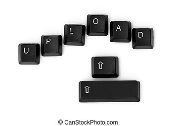 UPLOAD word written on a keyboard