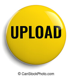 Upload Word Yellow Round Icon