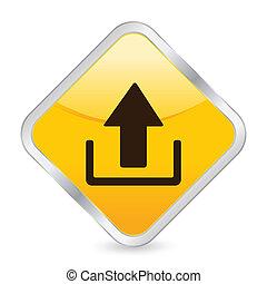 upload yellow square icon