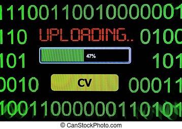 Uploading CV concept