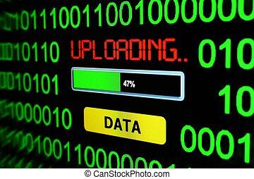 uploading, data