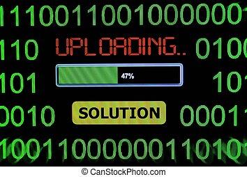 Uploading solution
