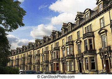 Upmarket Residential Housing, Edinburgh, Scotland - A row of...